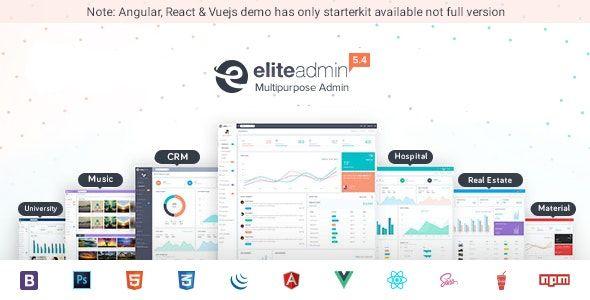 Elite Admin Multipurpose Bootstrap Angular React Vuejs Dashboard Template Bootstrap Dashboard Template Templates Website Template