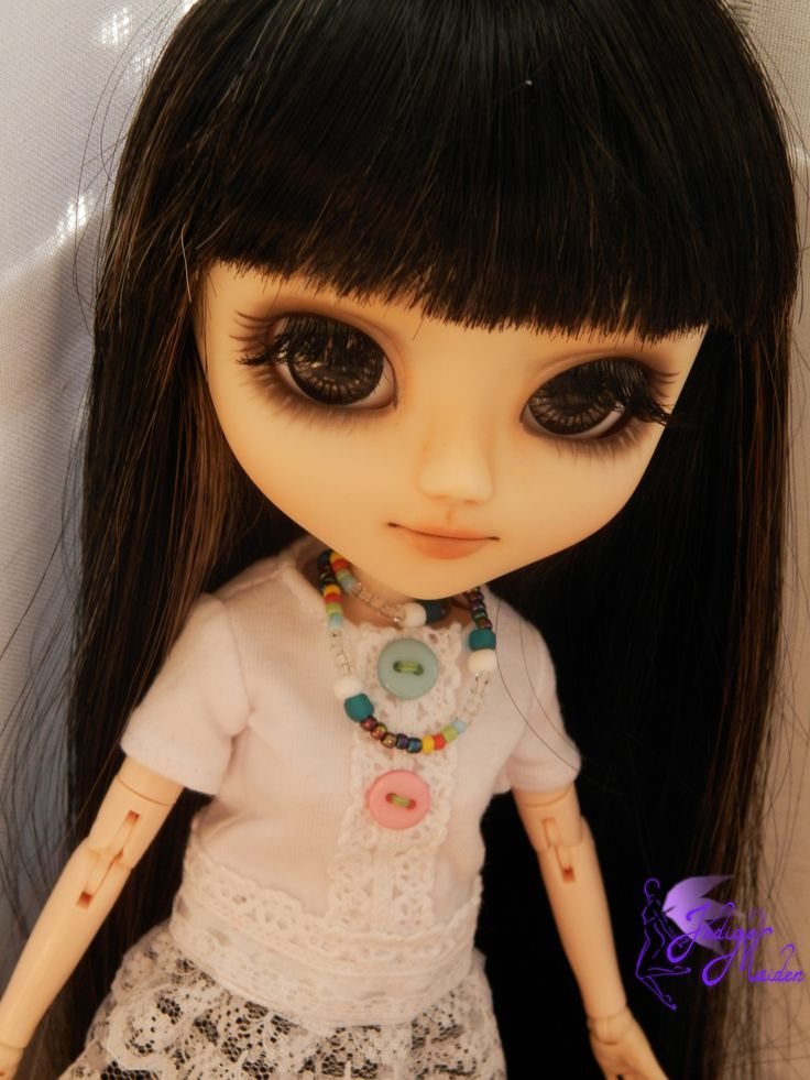 Wish, OOAK pullip, face-up and carving by Indigo Maiden - make up for dolls