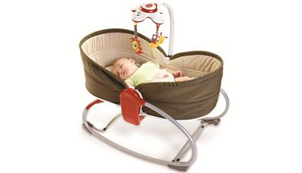 Tiny Love 3-in-1 Rocker Napper, $99.99  I'm so excited about this release coming in May. Similar to the idea of the Stokke Bounce 'N Sleep (retailing for $450), this 3-in-1 bassinet, rocker, and vibrating infant seat from Tiny Love is a mere $100. And after seeing it in person, I can say that it's an incredibly good value for the quality.