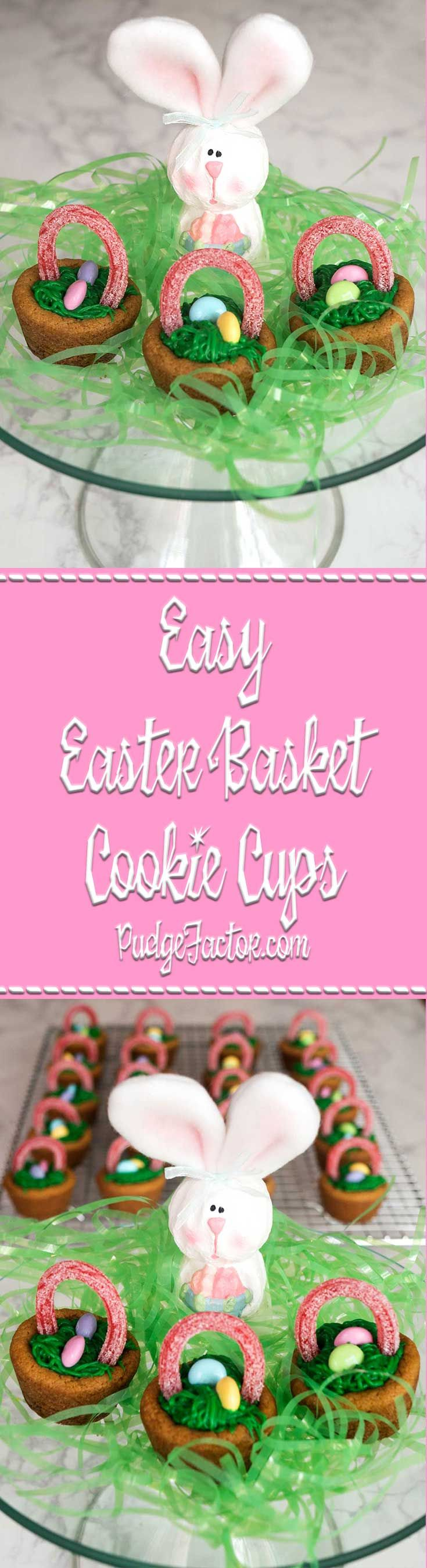 If you're looking for an easy treat for Easter, look no further! These Easy Easter Basket Cookie Cups take only a few ingredients, and are a snap to make. via @c2king