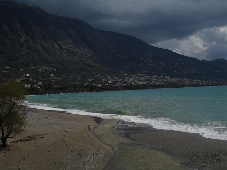 Beach. City of Kalamata, Messinia, Greece