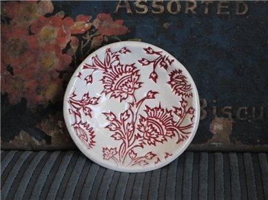 Mudbird - Handmade Ceramics - Red Thistle Dish