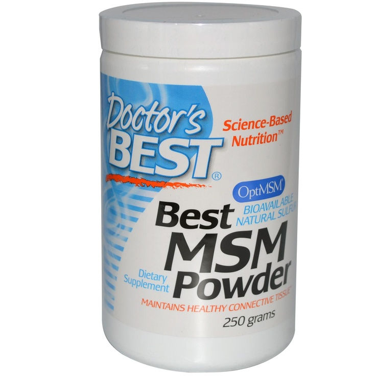 Doctor's Best, Best MSM Powder, 250 g - iHerb.com- - - - - - - - - - - - - - - - - My skin went through an transformation, it went smoother and brighter. This stuff have a litlle weird aftertaste, but it really doesnt matter. I love this product. MSM helps keep skin, hair and nails healthy by donating sulfur for production of keratin, a fibrous protein.