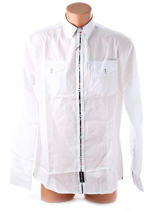 Elegantná biela pánska košeľa s dlhým rukávom od renomovanej odevnej značky Carlo Bellucci. Vhodná na menej formálne príležitosti, veľmi príjemná na nosenie. http://www.yolo.sk/panske-kosele-dlhy-rukav/kosela-carlo-bellucci-biela