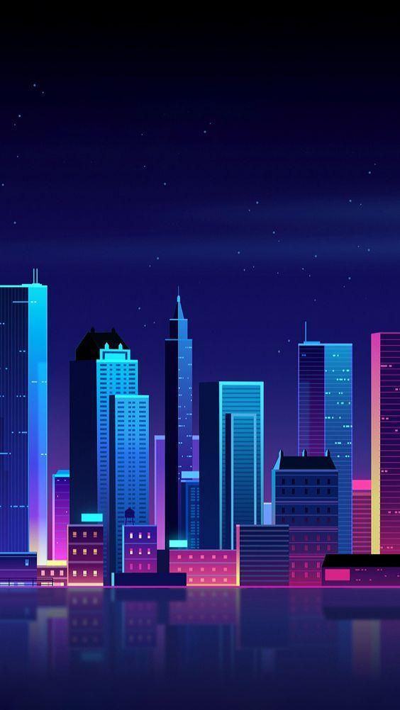 retro city wallpaper | City wallpaper, Minimalist ...