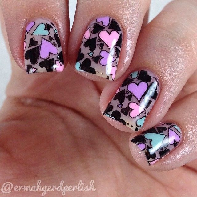 9 Best Heart Nail Art Designs With Images: 215 Best Images About Holiday Nail Ideas On Pinterest