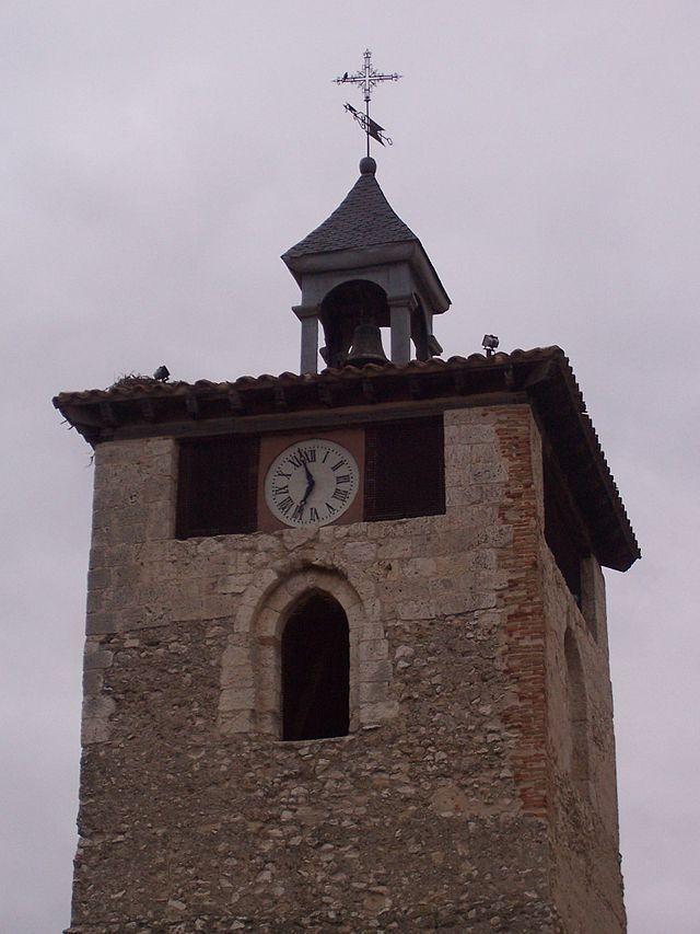 Valladolid Torre del Reloj de la Villa de Peñafiel.