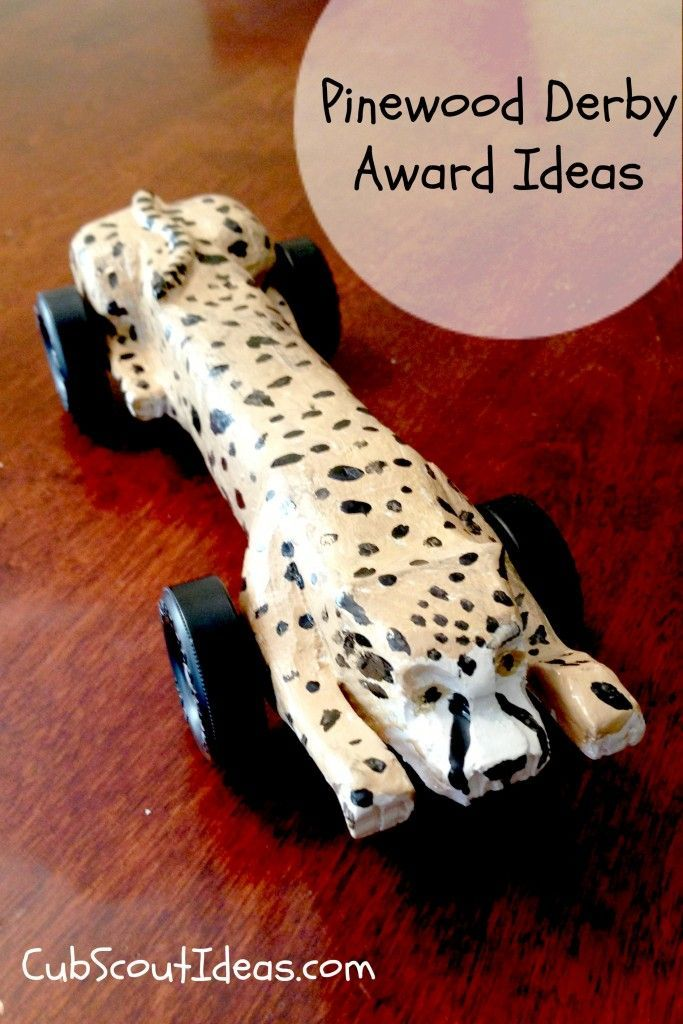 Compilation of Pinewood Derby award ideas!