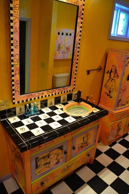 Alice In Wonderland Bathroom Everything Alice Wonderland