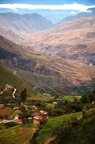 Saraguro landscape, rural Ecuador