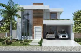 Resultado de imagem para fachadas de sobrados modernos com telhado embutido