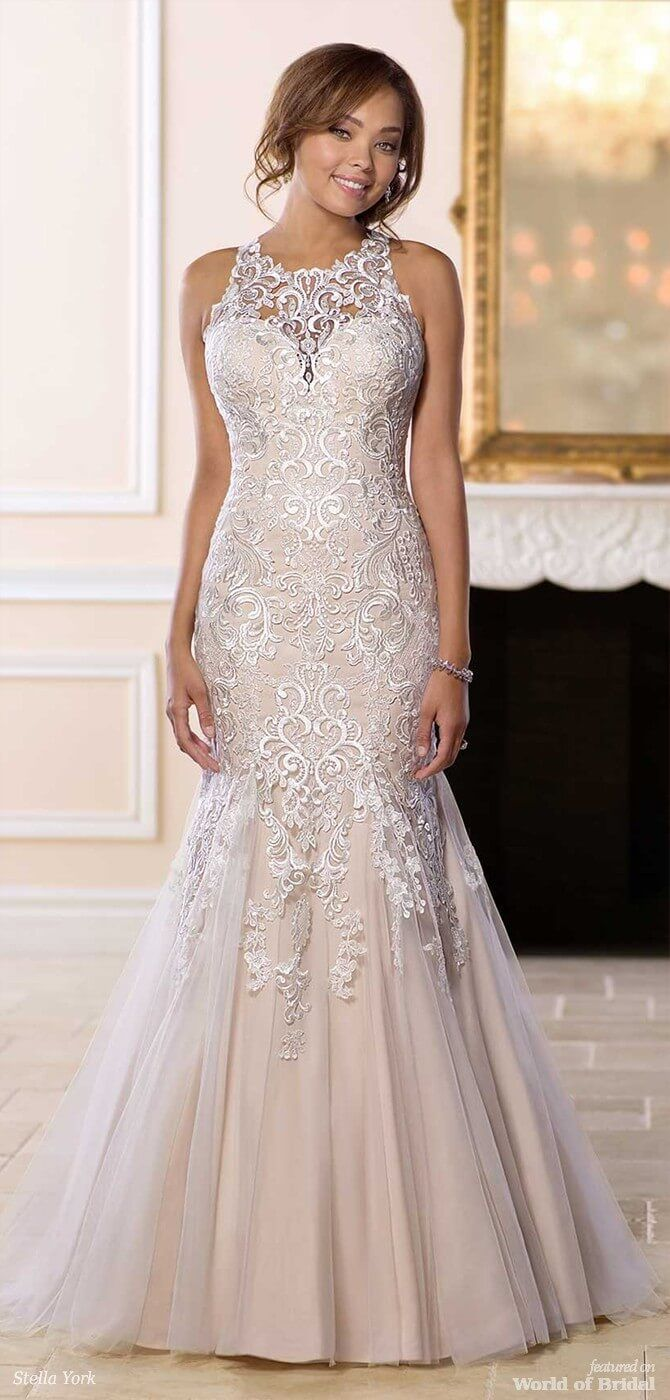 Stella York Spring 2018 Bridal Collection World Of Bridal Halter Top Wedding Dress Halter Wedding Dress Bridal Dresses