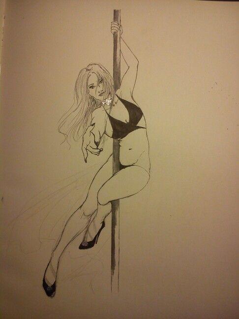 Pole dance sketch