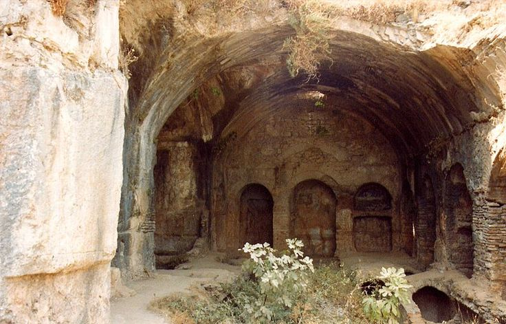 "Picture of the Cave of the Seven Youths of Ephesus (""Cave of the Seven Sleepers"") as it appears today. Note: according to tradition, this cave was also the original burial place of St. Mary Magdalene"