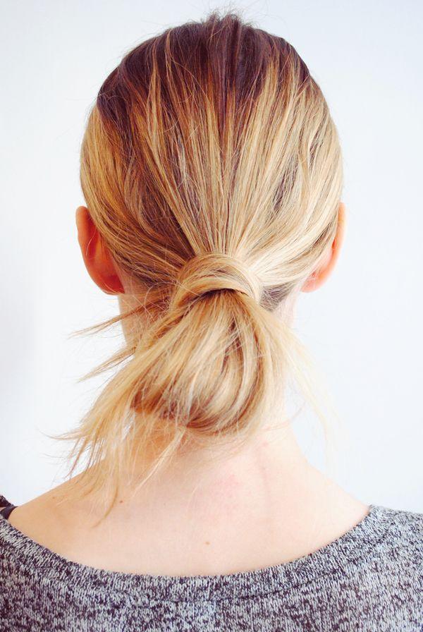 looped ponytail.