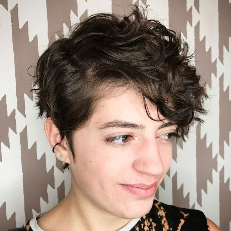 Side Part Pixie Cut For Curly Hair