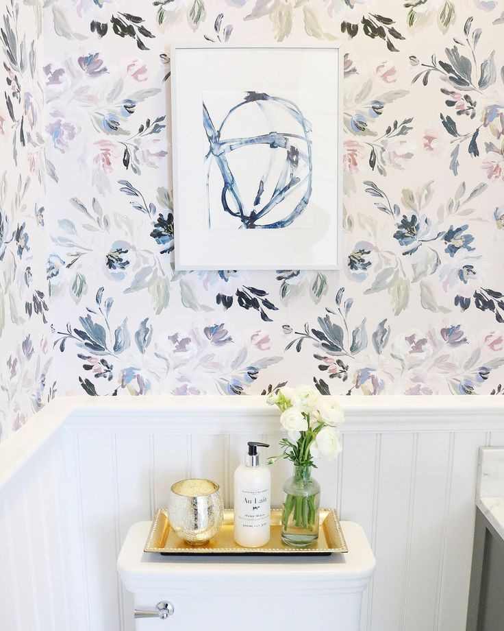 Floral Wallpaper in Bathroom in 2020 | Quirky home decor ...