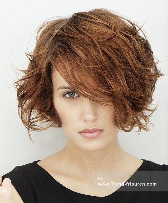 Franck Provost Mittel Braun Weiblich Wellig Farbige Messy Bob Französisch Frauen Haarschnitt Frisuren hairstyles