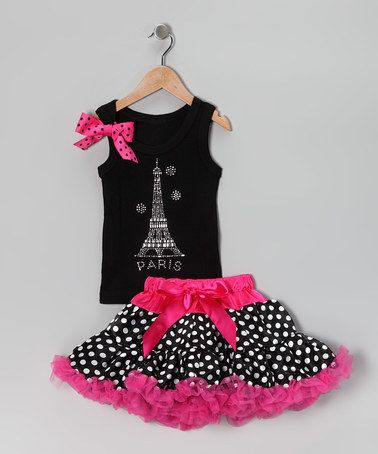 Take a look at this Black Eiffel Tank & Pettiskirt - Infant, Toddler & Girls by So Girly & Twirly on #zulily today!