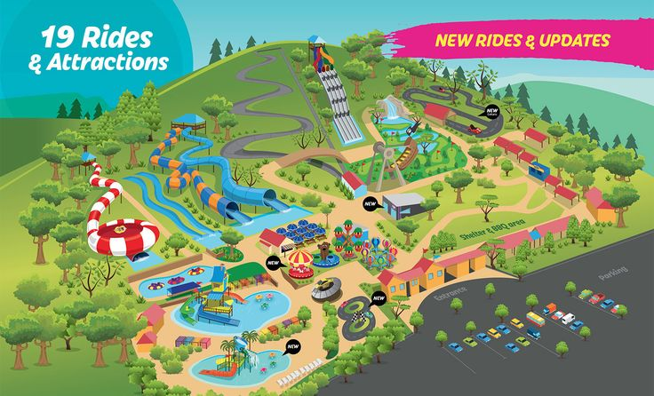 19 Rides and Attractions for the whole family. Melbourne Theme Park Victoria