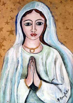 Dolce Madonna - olio su tela (20x30 cm)