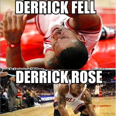 Derrick Fell Derrick Rose