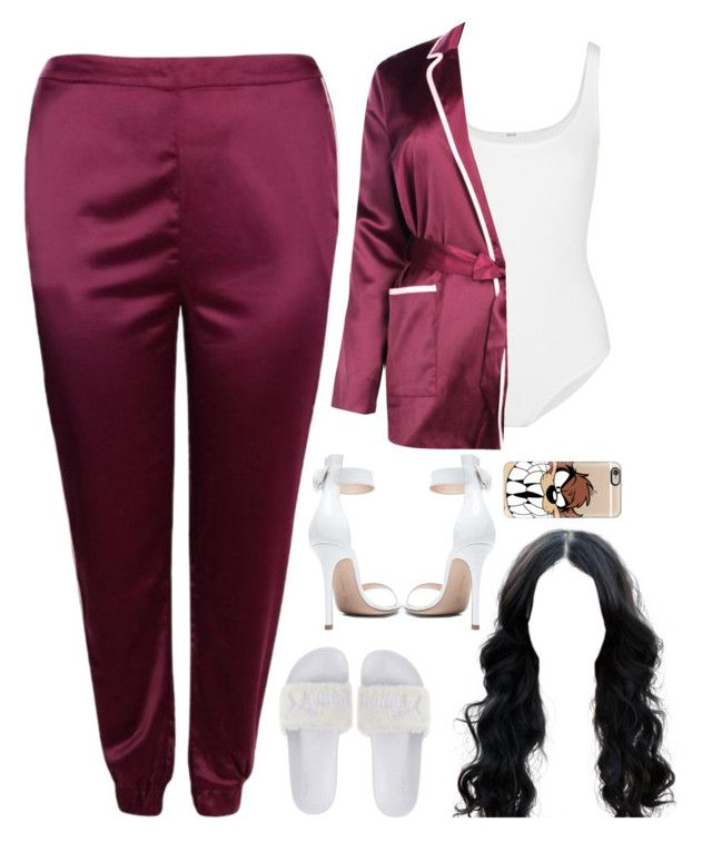 """""""12 November, 2016"""" by jamilah-rochon ❤ liked on Polyvore featuring Wolford, Boohoo, Puma, Gianvito Rossi and Casetify"""