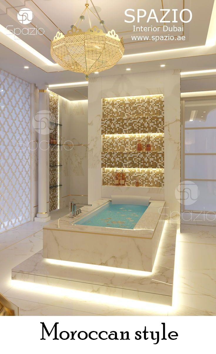 Moroccan Ispired Bathroom Interior Design And Decor For A Luxury Dream House More Morocan Style Desi Idee Salle De Bain Idees Baignoire Salle De Bains Moderne