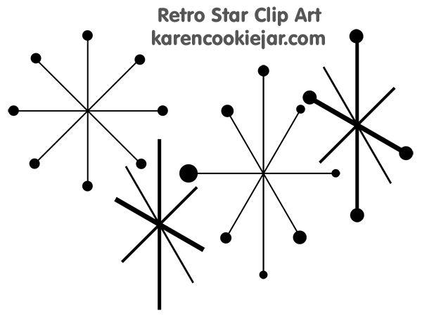 Retro Star Clipart Http Karencookiejar Com 2012 04 Retro