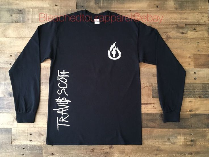 TRAVIS SCOTT Long Sleeve Tee Shirt in Black Travis Scott Rodeo Tour Merch  | eBay
