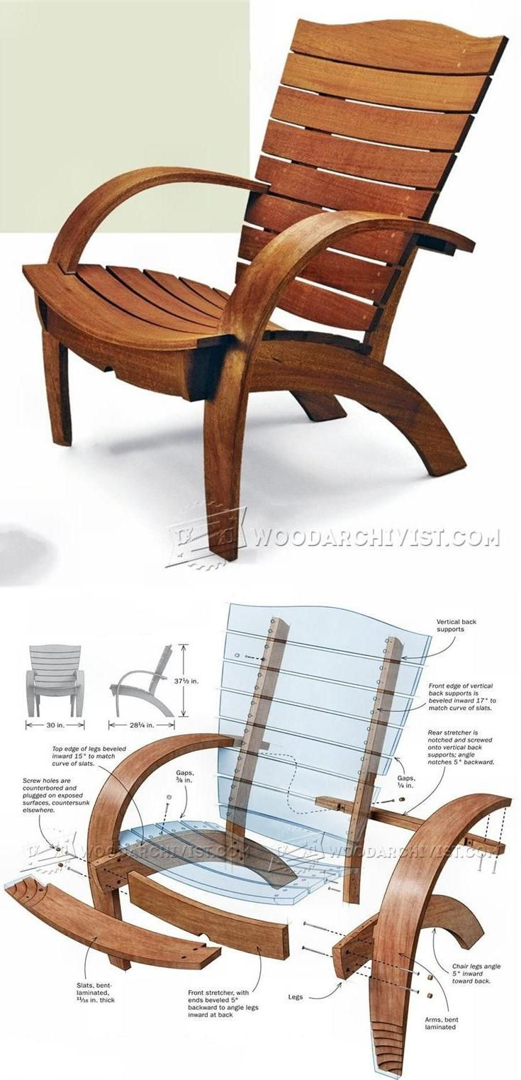 Outdoor furniture plans - Garden Chair Plans Outdoor Furniture Plans And Projects Woodarchivist Com