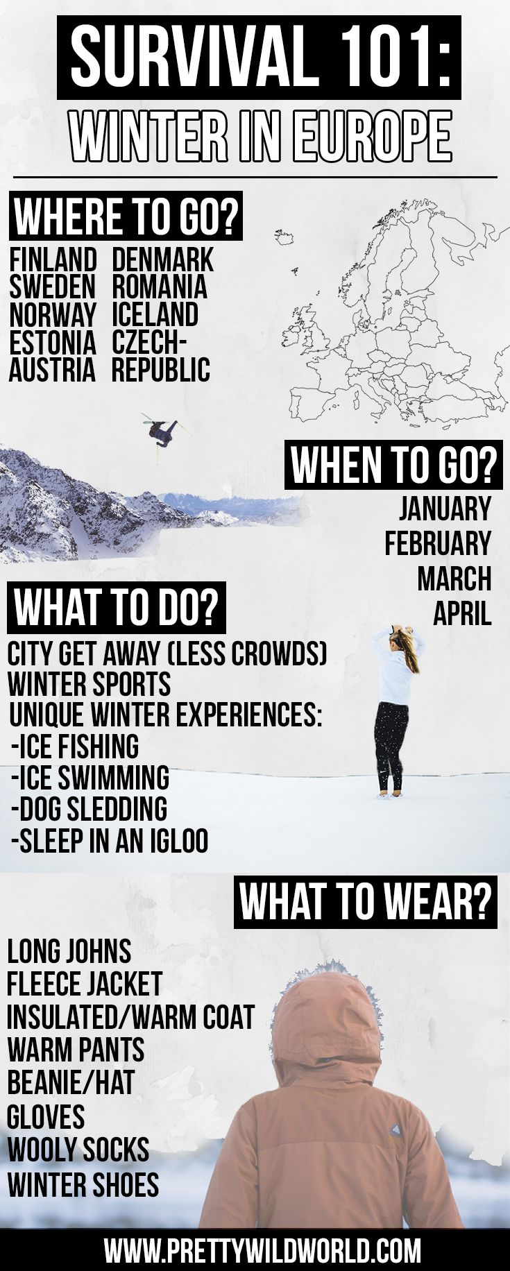 Check out this link to learn more how to survive winter in Europe so you don't freeze your buttocks off! Or pin this for later!