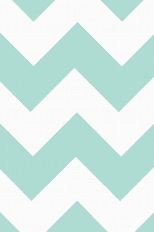 Mint green chevron | iPhone wallpaper | Pinterest