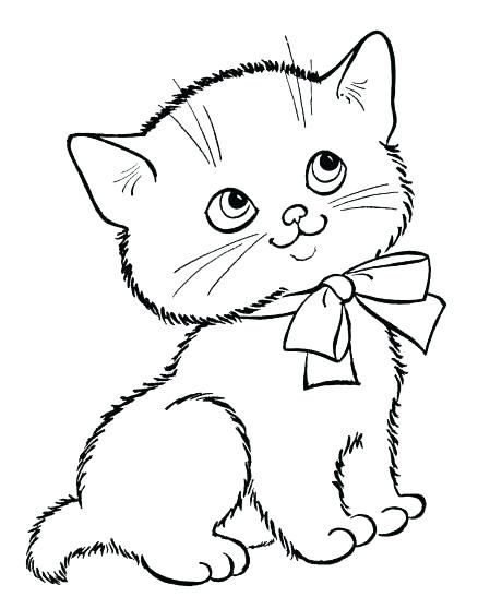 Pin By Ines G On Riscos De Gatos Kitten Drawing Kittens Coloring Animal Coloring Pages