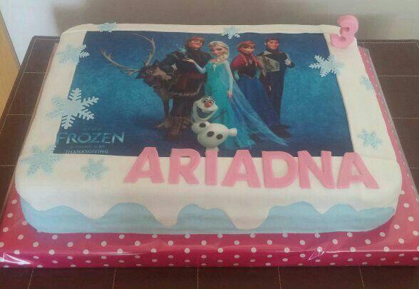 Tarta de Frozen con foto comestible!!