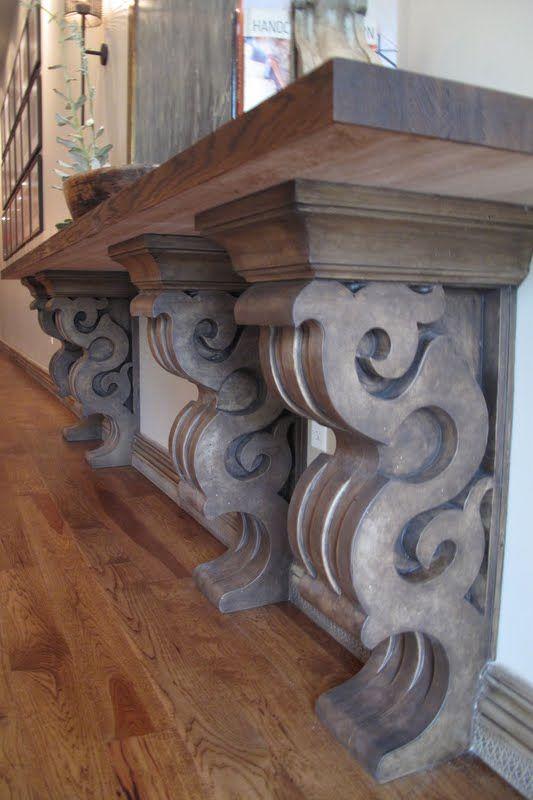 Cantilevered shelf/ great corbels