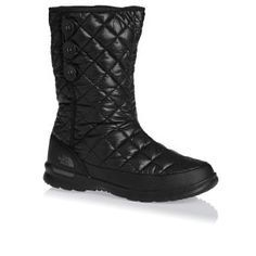 The North Face Boots - The North Face Women's Thermoball Button-up Insulated Boots - Shiny Tnf Black/Smoked Pearl Grey