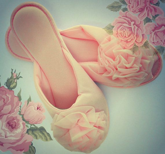 Glamorous Rose Boudoir Slippers! ConstantlyAlice on Etsy