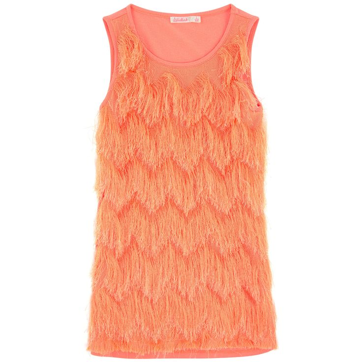 Modal and cotton jersey Synthetic fringes Straight fit Crew neck Sleeveless Fancy fringes - $AU 115