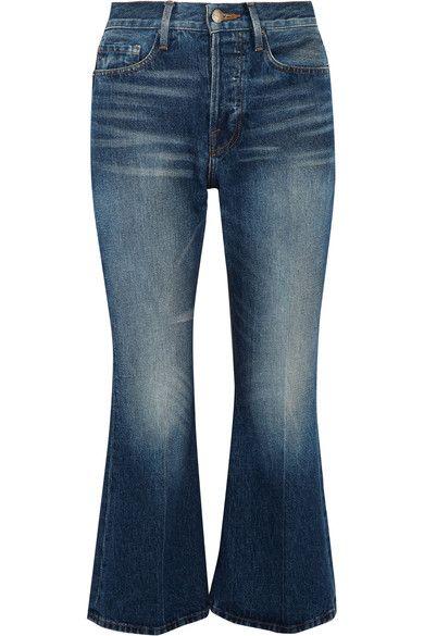 Blue denim Partially concealed button fastenings along front 100% cotton Machine wash Designer wash: Jagger