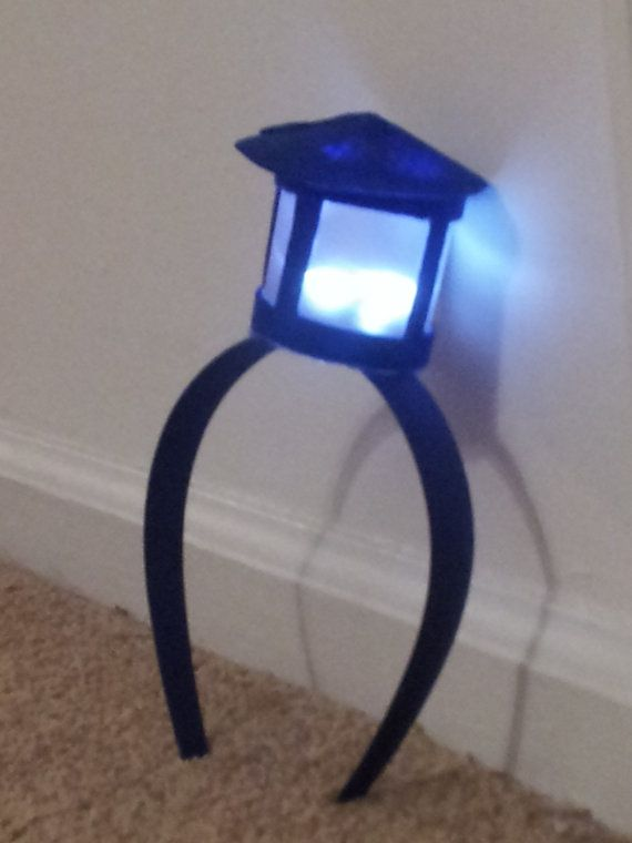 TARDIS Headband - Doctor Who - LED Lamp..... Will get this for future tardis costume! Too cute <3