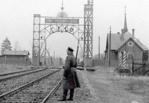 Kolosowa-Polski pogranicznik na granicy lata 30-te.