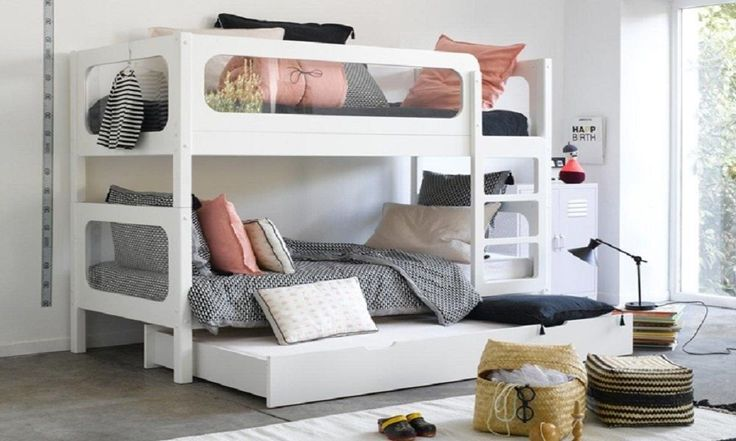 Bunk Bed Buying Guide - Tripple Trundle Bed - www.houseofhome.com.au/blog/types-bunk-beds