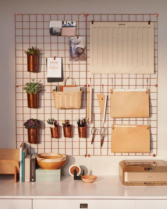 Rejillas metálicas: original elemento para decorar las paredes | Estilo Escandinavo