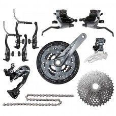 Shimano Alivio M4000 Groupset V-Brake 3x9-speed - www.store-bike.com