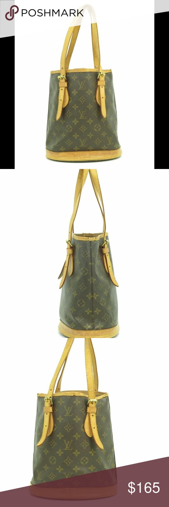 💯% Authentic lv petite bucket bag Good condition inside and out. Please see pictures. Louis Vuitton Bags Shoulder Bags