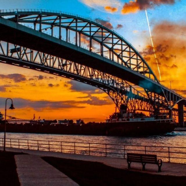 Blue Water Bridge in Port Huron, my hometown