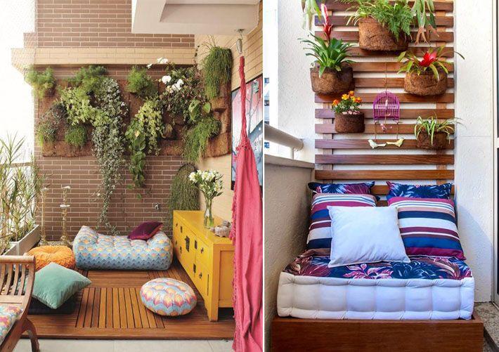 Varandas e sacadas pequenas merecem uma decoração sob medida para tornar o espaço mais bonito e utilizável. Há várias ideias para elaborar um projetinho para estes ambientes no blog!