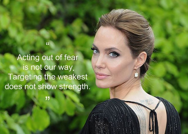 Angelina Jolie speak out against Donald Trump's refugee ban. Read more on our website link on our bio. #angelinajolie #marieclaire #marieclaireindonesia  via MARIE CLAIRE INDONESIA MAGAZINE OFFICIAL INSTAGRAM - Celebrity  Fashion  Haute Couture  Advertising  Culture  Beauty  Editorial Photography  Magazine Covers  Supermodels  Runway Models