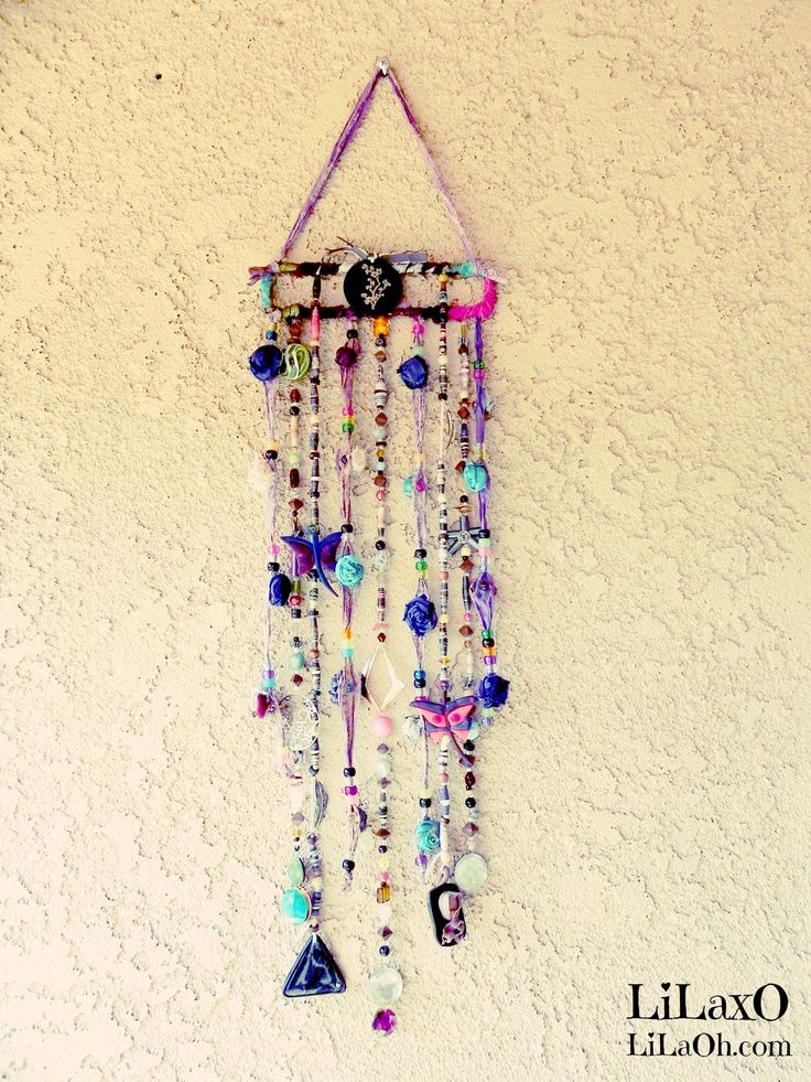 Mobile Suncatcher Chimes Home Garden Decor Beads and by LiLaXO #boho #bohemian #gypsy #hippie decor #LiLaOh